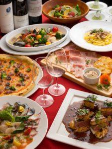 池袋の三ツ星級イタリアン 金のイタリアンの宴会コース1