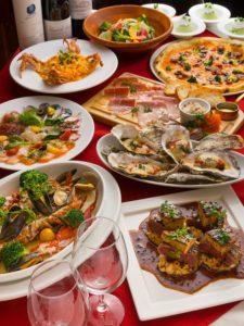 池袋の三ツ星級イタリアン 金のイタリアンの宴会コース2