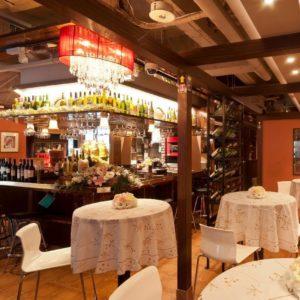 池袋の三ツ星級イタリアン 金のイタリアンのディナテーブル席
